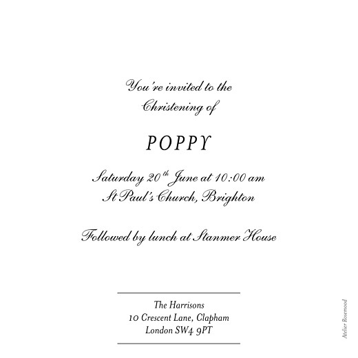 Christening Invitations Lovely linen blue - Page 2
