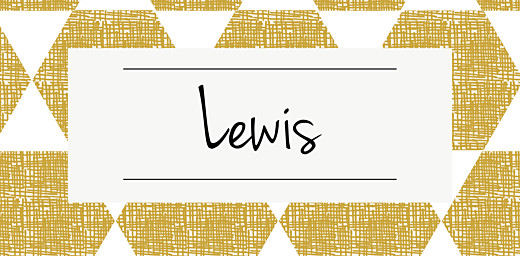 Christening Place Cards Lovely linen yellow
