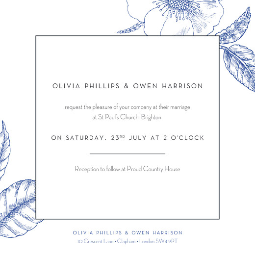Wedding Invitations Engraved chic blue - Page 2