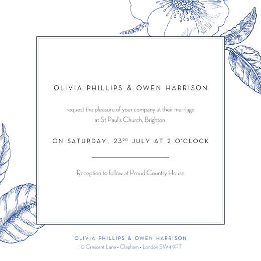 婚礼请柬雕刻别致的蓝色 - 第2页