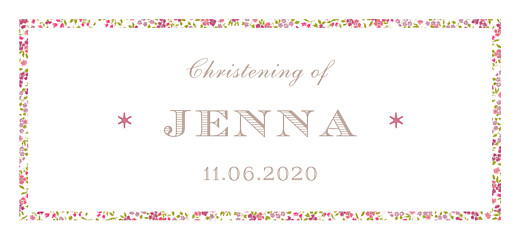 Christening Gift Tags Liberty fish pink