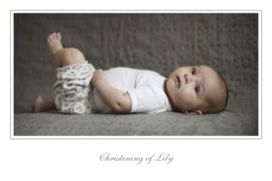 Baby Thank You Cards Olive branch white