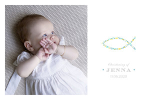 Baby Thank You Cards Liberty fish yellow green
