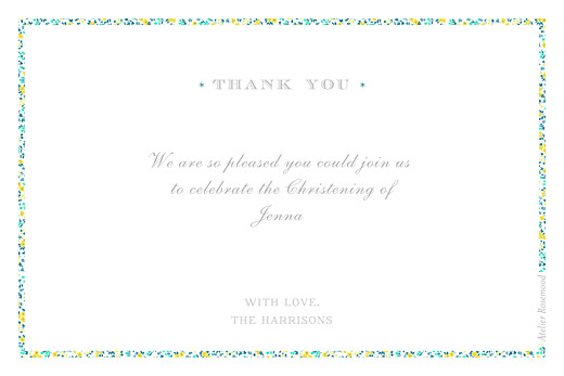 Baby Thank You Cards Liberty fish yellow green - Page 2
