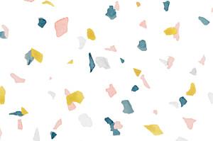 Granite pink & yellow notecards