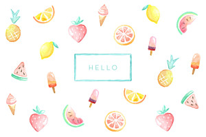 Sweet summer white le collectif  notecards