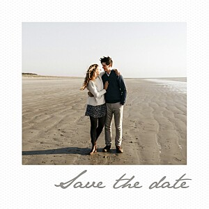 Little polaroid white save the date cards