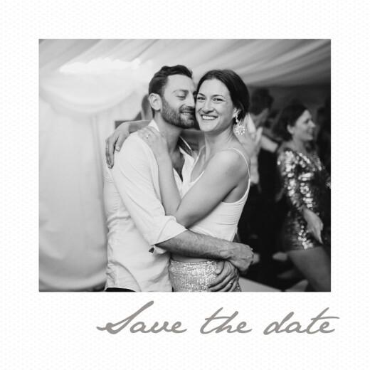 Save The Dates Little polaroid white