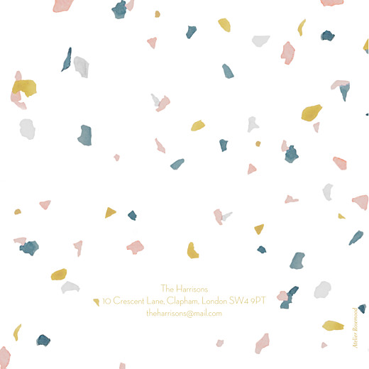 Baby Announcements Granite (4 pages) pink & yellow