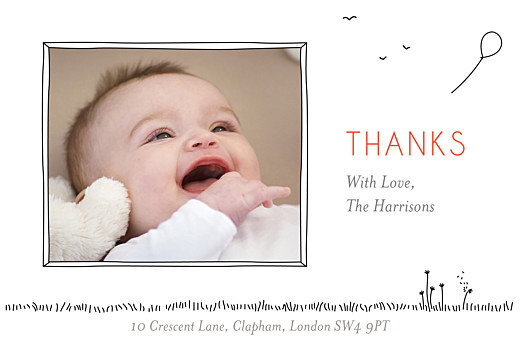 Baby Thank You Cards The promise photo white