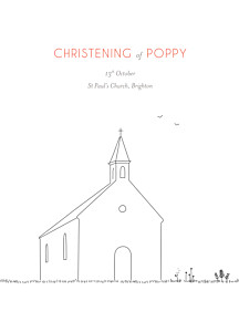 Christening Order of Service Booklets The promise white