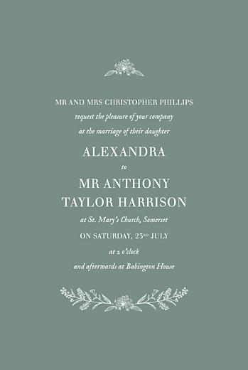 Wedding Invitations Natural chic (small) green