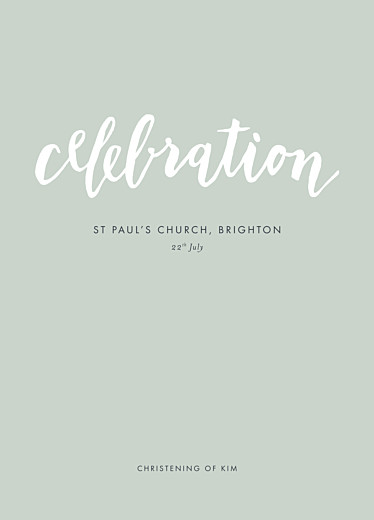 Christening Order of Service Booklets Faith green