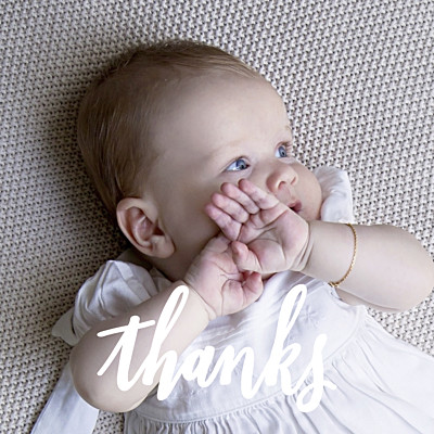 Baby Thank You Cards Faith green finition