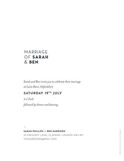 婚礼邀请Laure de Sagazan(箔)白色 - 第2页
