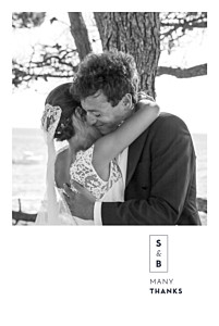 Laure de sagazan (foil) white silver foil wedding thank you cards