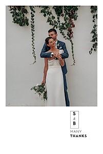 Laure de sagazan (foil) white blue wedding thank you cards