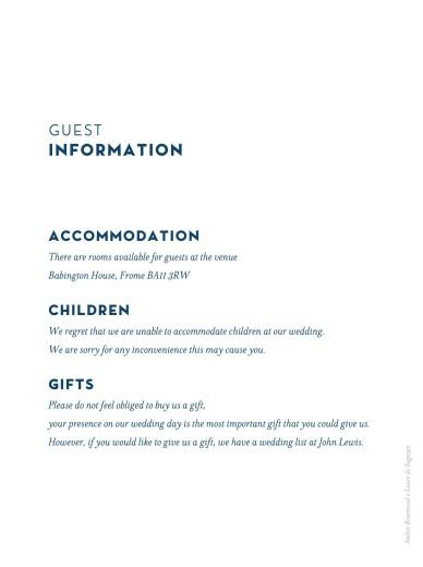 Guest Information Cards Laure de sagazan white - Page 2