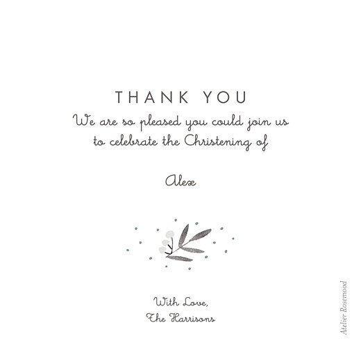 Baby Thank You Cards Jubilation green - Page 2