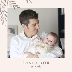 Baby Thank You Cards Jubilation pink