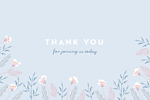 Rejoice blue christening baby thank you cards