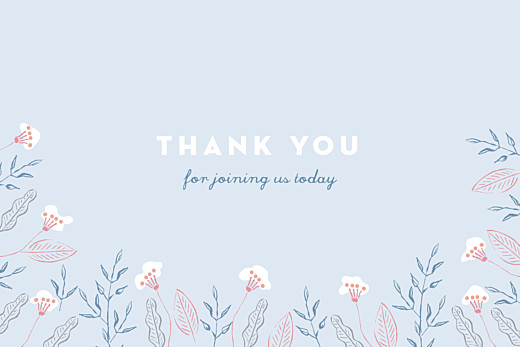 Baby Thank You Cards Rejoice blue