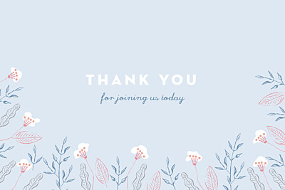 Baby Thank You Cards Rejoice blue finition