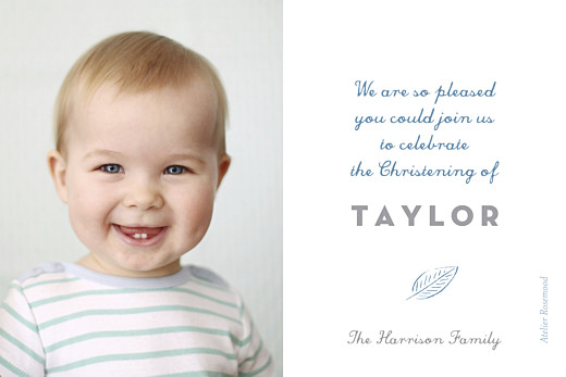 Baby Thank You Cards Rejoice blue - Page 2