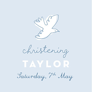 Rejoice blue christening gift tags