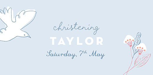 Christening Place Cards Rejoice blue - Page 4