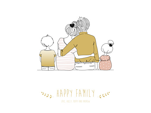 海报可爱的家庭2个孩子女孩-第1页