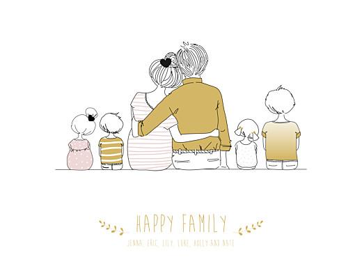 海报可爱的家4个孩子混合 - 第1页