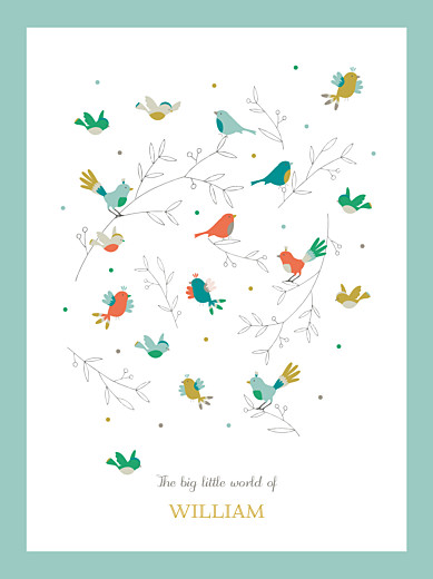 Posters Birds of a feather blue - Page 1