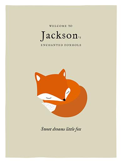 海报小狐狸米色和橙色 - 第1页