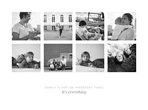 Posters Souvenir 8 photos landscape white