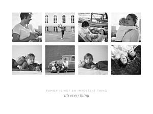 Souvenir 8 photos landscape white posters