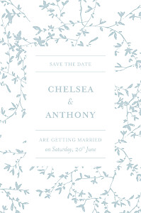 Reflections green save the date cards