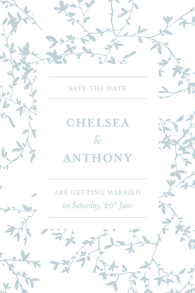 Save The Date Cards Reflections green finition