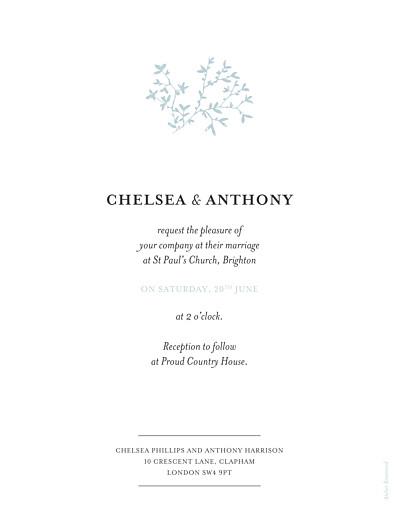 Wedding Invitations Reflections green