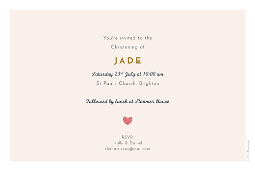 Christening Invitations Charming chapel pink - Page 2