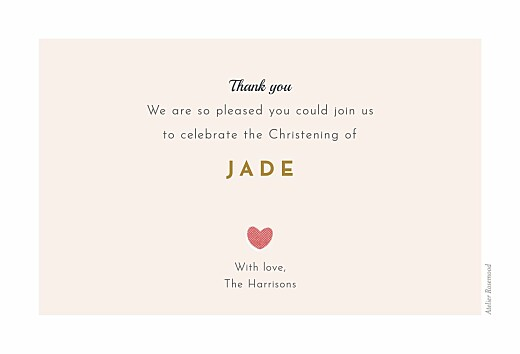 Baby Thank You Cards Charming chapel pink - Page 2
