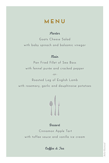 Christening Menus Charming chapel green - Page 2