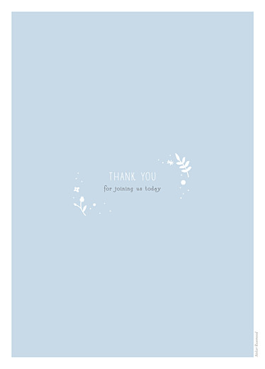 Christening Order of Service Booklets Floral cross blue - Page 4
