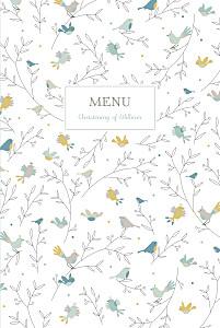 Birds of a feather green christening menus