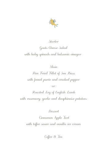 Christening Menus Birds of a feather green - Page 3
