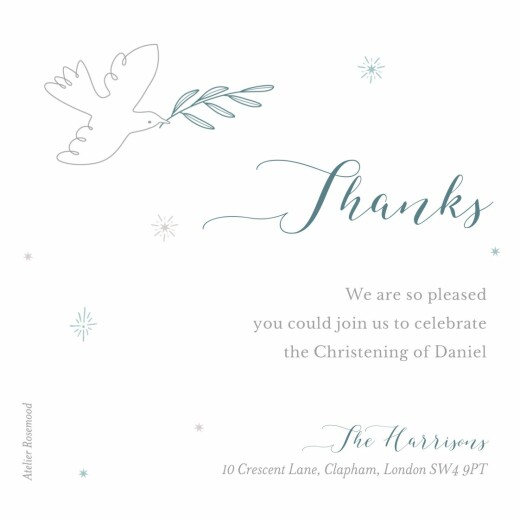 Baby Thank You Cards Delicate dove blue