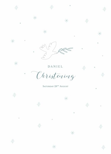 Christening Order of Service Booklets Delicate dove blue