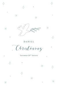 Delicate dove blue christening menus