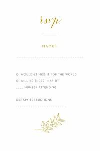 Botanical border yellow rsvp cards