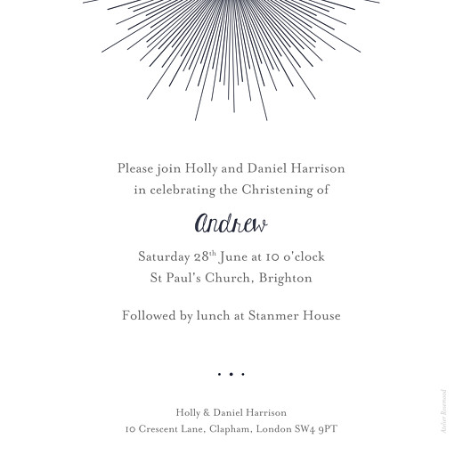 Christening Invitations Lumière (foil) midnight blue - Page 2